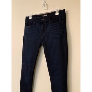 Skinny mid rise express jeans